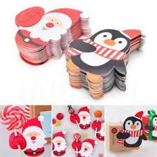 wholesale lollipop sticks wholesale 50pcs christmas penguin lollipop sticks paper candy