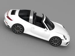 porsche 911 targa white porsche 911 targa 4s 991 2016 3d cgtrader