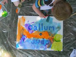 art projects for kids painting on canvas a happy stitch