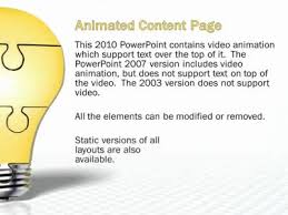 light bulb puzzle pieces a powerpoint template from