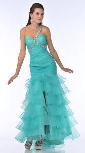 mint green layered skirt mermaid prom dress