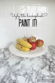 Do It Yourself Backsplash For Kitchen Painted Tile Backsplash Cover Those Ugly Tiles Make Do And Diy