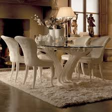 glass dining room table and chairs exclusive italian pedestal large glass dining table set juliettes