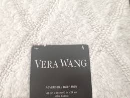 Reversible Bath Rugs Vera Wang Reversible Bath Rug White 100 Cotton 17 X 24 Bath