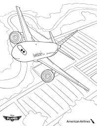 image american airlines plane disney planes coloring jpg