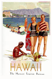 hawaii travel bureau hawaii 1929 travel posters two bureaus vintage