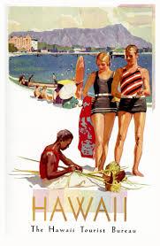 hawaii travel bureau hawaii 1929 travel posters two bureaus vintage