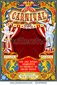 clown show for birthday party circus tent artist fairground show stock vector 519457423