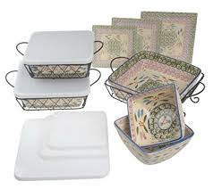 oven to table bakeware sets amazon com temp tations old world oven to table bakeware set old