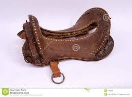 Horse Saddle by Army Horse Saddle Stock Photo Image 4406530