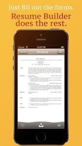 Resume Maker On The Go Resume Mobile Pro Resume Maker On The Go App Resume Cv Apps