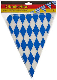 Banners Flags Pennants Amazon Com Beistle 50970 Oktoberfest Bavarian Flag Pennant Banner