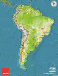 Map Of South America And North America by Physical Map Of South America Ezilon Maps Tiptons Usa Physical