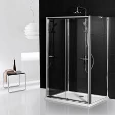 700mm Shower Door Aqua I 3 Sided Shower Enclosure 1200mm Sliding Door And 700mm Side