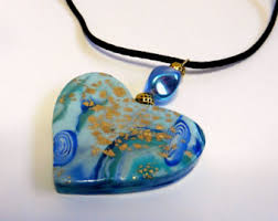 blue heart necklace images Blue heart necklace etsy jpg