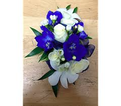 blue orchid corsage blue wax orchid wrist corsage in fairless pa flowers by
