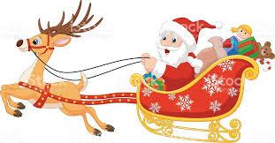 imagenes animadas de renos de navidad dibujos animados de su navidad santa con trineo con renos