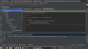 android studio linux linux error in application in android studio stack overflow