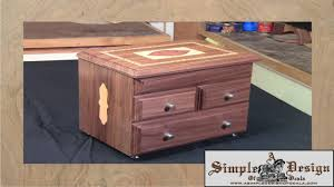 Free Wooden Keepsake Box Plans by Making An Inlay Jewelry Box Part 1 Youtube
