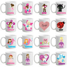 Cup Designs by Personalised Bpa Free Girls Mug Cup In A Mermaid Design