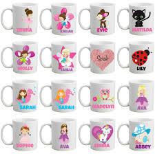 personalised bpa free girls mug cup in a mermaid design