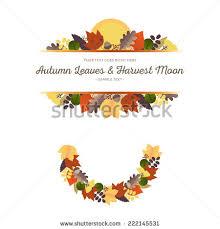 autumn ornaments leaves harvest moon 1 stock vector 222145531