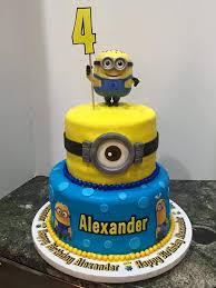 minion birthday cakes minion 2 tier birthday cake tiered birthday cakes birthday cakes