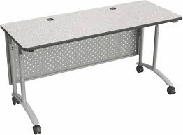 Adjustable Height Office Desks by Standing Computer Table Dual Post Steel Legs