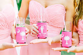 custom wedding koozies custom wedding koozies archives southern weddings