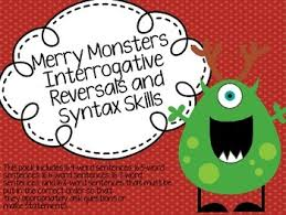 merry monsters interrogative reversals and syntax skills by