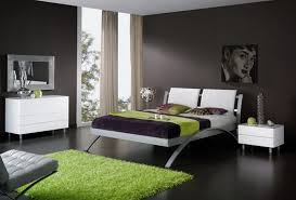 Black Painted Walls Bedroom Bedroom With Orange Accent Wall Fancy White Iron Twin Platform Bed