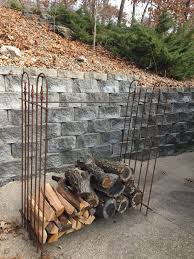 5 u0027t wrought iron firewood storage rack for fireplace