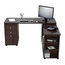 L Desk Staples Inval America L Shaped Workstation Desk Espresso Wengue Et3215