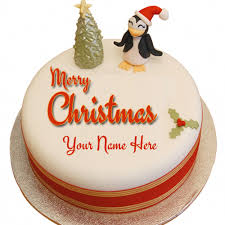 merry christmas wishes designer cake with your name