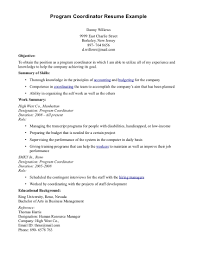 Coordinator Resume Examples by Wellness Program Coordinator Cover Letter