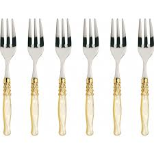 colour cutlery flatware set selene gold plated ring
