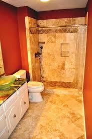 interior elegant bathroom tub and shower tile ideas in