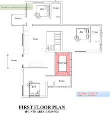 yard plan and elevation 3895 sq ft kerala home design and
