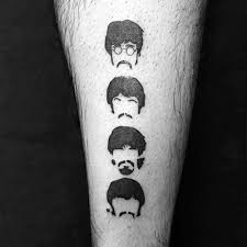 50 beatles tattoos for men english rock band design ideas