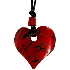 long red heart necklace images Red tagua heart pendant from ecuador fair trade handmade jpg