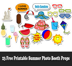 printable photo booth props summer free printable summer photo booth props jpg