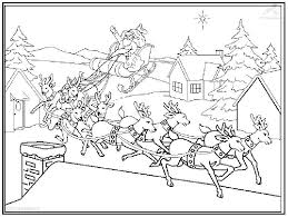santa sleigh coloring pages getcoloringpages