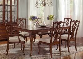 manor 577 t4490 dining table in cinnamon w options
