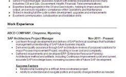 Sap Project Manager Resume Sample Sap Cover Letter Sap Functional Tester Cover Letter Sap