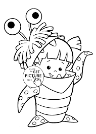 costume monster inc coloring pages for kids printable free