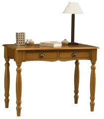 bureau pin miel table à ecrire pin massif miel 2 tiroirs beaux meubles pas chers