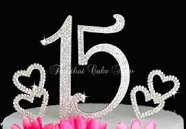 15 cake topper deluxe quinceanera 15 numbers cake topper in
