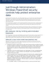 6125 just enough administration windows powershell security