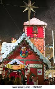 Los Angeles Christmas Decorations The Grove Mall West Hollywood Los Angeles California Usa Stock