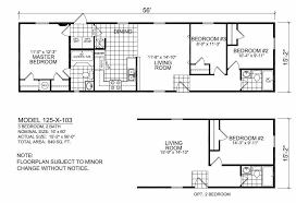 Champion Floor Plans 16 X 60 Mobile Home Floor Plans 16 Free Printable Images House